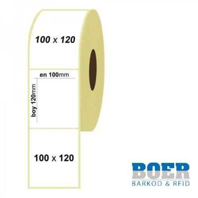 100mm x 120mm Kuşe Etiket