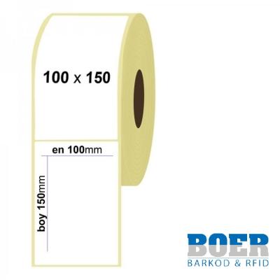100mm x 150mm Kuşe Etiket