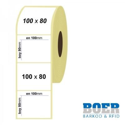 100mm x 80mm Kuşe Etiket