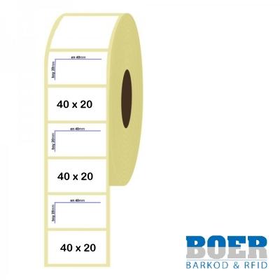 40mm x 20mm Termal Etiket