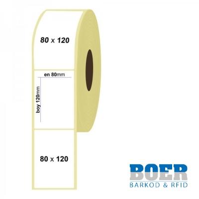 80mm x 120mm Kuşe Etiket